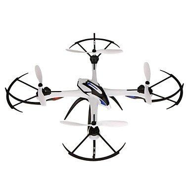 W&P X6 drone con 5.0MP cámara 4CH gran RC Quadcopter modo una declaración clave con luz LED , white/blue
