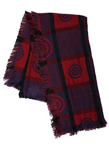 FunComInc Marvel Captain America Women's Woven Blanket Scarf - ()