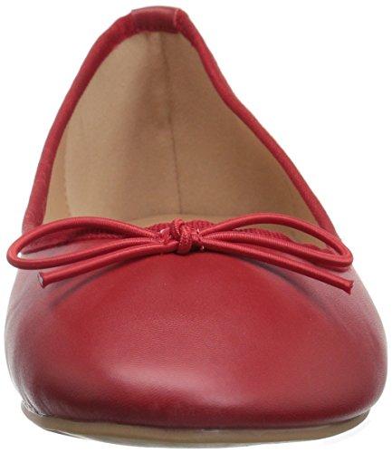 Brinley Co Womens Viki Balletto Rosso Piatto