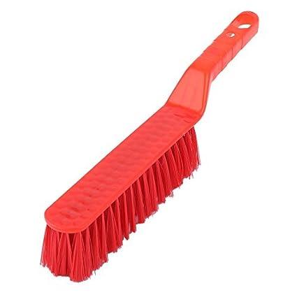 eDealMax plástico de mango largo Asientos Inicio Alquiler de baño limpio cuidado de la herramienta pincel