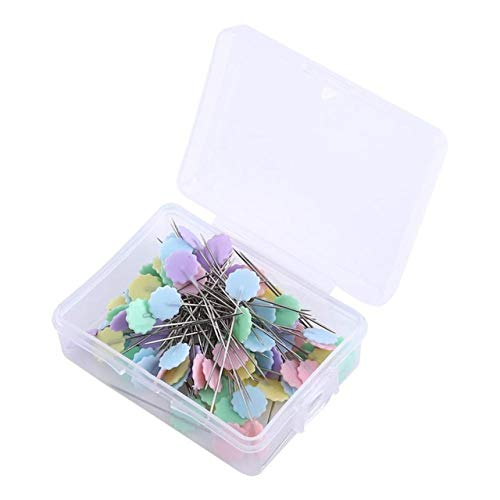 100 Pcs Patchwork Pins Flower Button Head Pins Quilting Sewing Accessories Tool