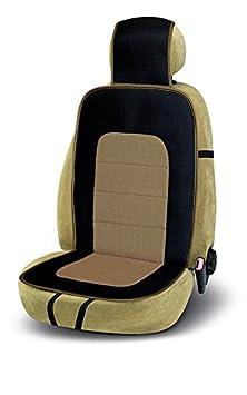 Farbe Grau und schwarz Bottari 12316 Auto-Sitzbezug Maui aus Leinen und Baumwolle