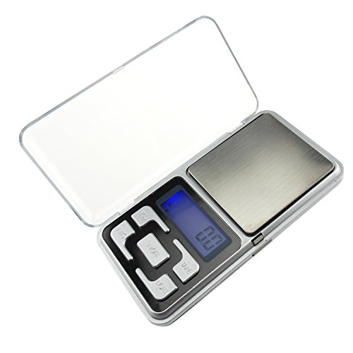 High Accuracy Mini Electronic Digital Pocket Scale Jewelry Diamond Gold Coin Calibration Weighing Balance Portable 100g/0.01g Counting Function Blue LCD g/tl/oz/ct/gn