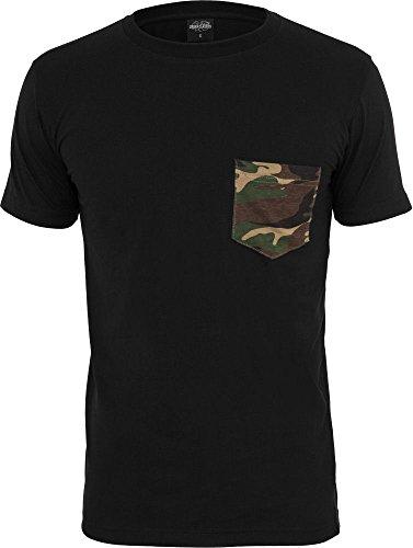 Urban Classics Herren T-Shirt Rundhals black/camouflage M