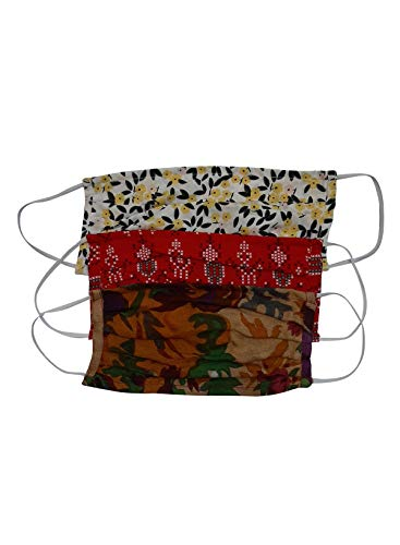 Aditi Wasan AW-MSKDRCT003-1 Pack of 3 Unisex Cotton Double Layer Printed Multi color Face Masks - Assorted Colors & Prints (B0876XK99Y) Amazon Price History, Amazon Price Tracker