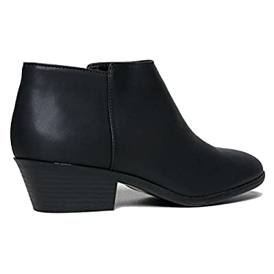 J. Adams Lexy Ankle Boot - Low Stacked Heel Closed Toe Casual Western Bootie | Ankle & Bootie