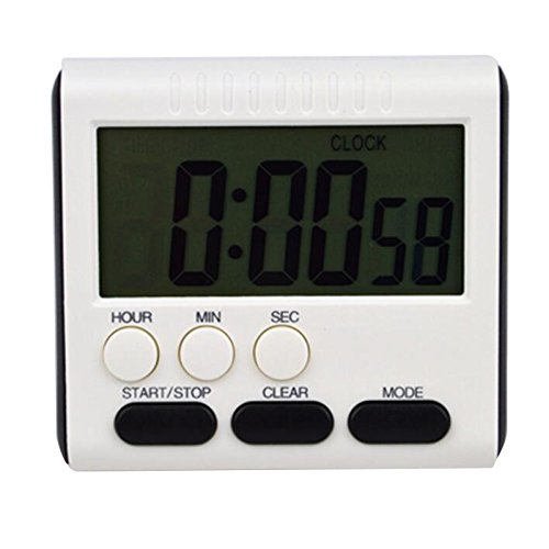 funwill Digital Kitchen Timer,Large LCD 24 Hours Loud Alarm Count Up Down Clock Home Cooking Study