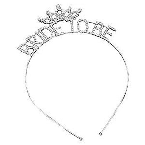 Bachelorette Party Diadème Bandeau strass argenté et transparent (Bride to Be)