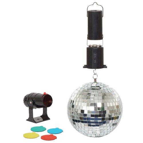 Cheetah 6inch Disco Mirror Ball Mini Spot Light 4 Colour Filters
