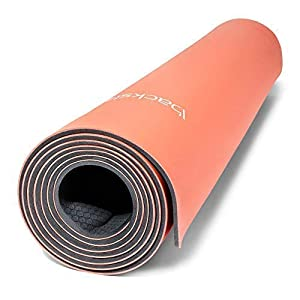 Backslash Fit Smart Yoga Mat: Long 5mm Thick Self-Rolling Non Slip Yoga Mat