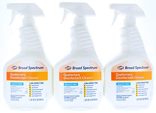 (3 Pk. Clorox Broad Spectrum Quaternary Disinfectant Cleaner, Spray, 32 Ounces (96 Fl. Oz)
