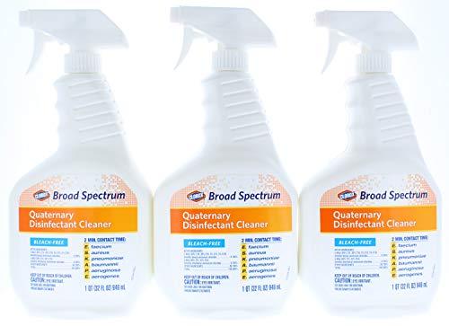 Quaternary Disinfectant Spray - 3 Pk. Clorox Broad Spectrum Quaternary Disinfectant Cleaner, Spray, 32 Ounces (96 Fl. Oz Total)
