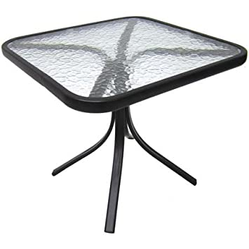 Lovely Mainstays Square Outdoor Glass Top Side Table
