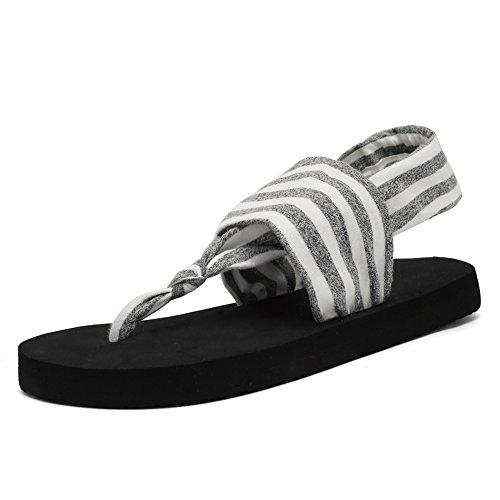 1f6012a3663d57 CIOR Womens Yoga Sandals Flip Flop mat Sling Back Meditation Shoes Studio  Outdoor(Women)