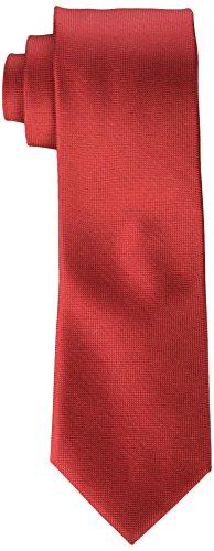 Calvin Klein Men's Silver Spun Solid Tie, Red, Regular by Calvin Klein