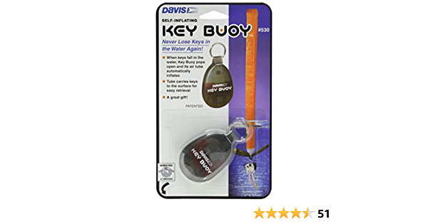Davis Self-Inflating Key Bouy The ultimate key fob for boaters and Marine sports