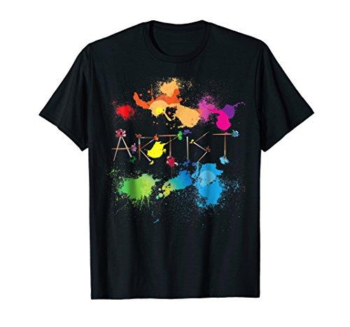 Artist Messy Painters Funny Paint Splatter Art T-shirt Artist Kids Dark T-shirt