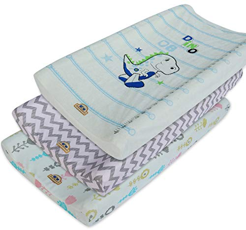 Ultra Soft and Comfty Strechy Changing Pad Cover 3pk by BlueSnail (Pink Set) (Changing Pad Terry Baby)