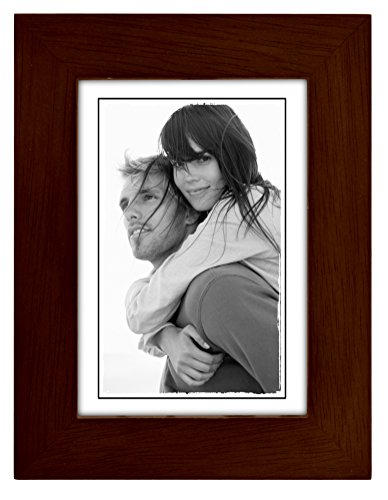 Malden International Designs Linear Classic Wood Picture Frame, 3x5, - 3x5 Wood Frame
