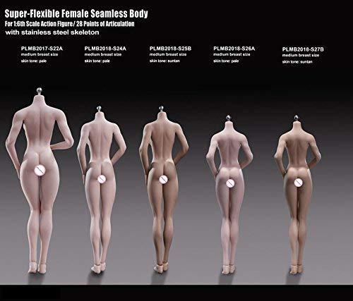 Fanxieast Female Body Figura Femminile 1//6 12 Pollici 28 cm Pelle Bianca Alta Torace Super Flessibile Femminile Senza Cuciture Body Non Headsculpt Incluso