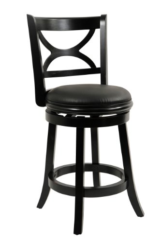 Boraam 45724 Florence Counter Height Swivel Stool  24 Inch  Distressed Black