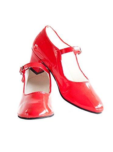 La Senorita Spanische Flamenco Schuhe - Schwarz (Größe 43 - Innenmaß 26,5, Schwarz)