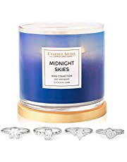 Charmed Aroma 2-Wick, Midnight Skies Jewelry Candle with Surprise Ring Inside