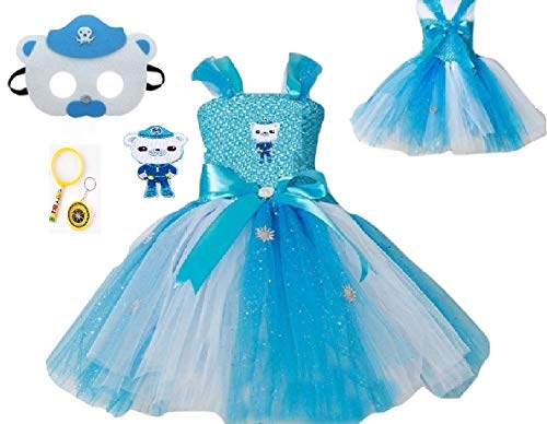 Octo Burn Knuckles Polar Bear Costume Tutu Dress from Chunks of Charm (Octo Burn Knuckles Polar Bear Felt Mask)