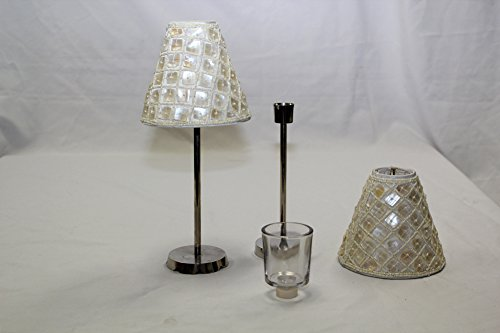 Tea Light Lamp Shade Beaded Ivory (Tea Shades Light)