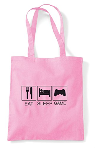 Eat Tiles Plain Hobby Tote Shopper Light Game Pink Activity Controller Bag Sleep Funny rT46xrq