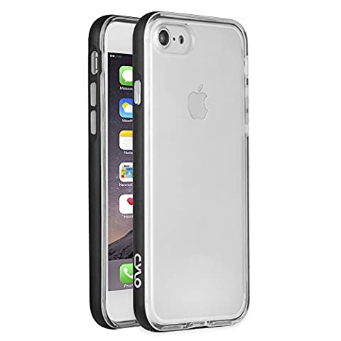CYLO Drop-Shield iPhone 7 Bumper Case, Lightweight Dual Protection Against Scratches and Damage, Silicon Inner Case with Aluminum Bumper (Fire Phone Screen Protector Moshi)
