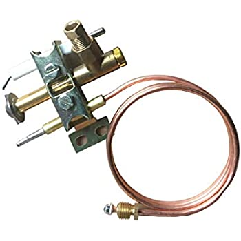 Meter Star Gas Fryer Universal Pilot Burner with 0.9 Meter Piezo Wire and Thermocouple M10X1 thread