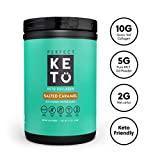 Perfect Keto Protein Powder Salted Caramel: Grass Fed Collagen Peptides Low Carb Keto Drink Supplement with MCT Oil Powder....