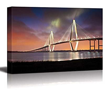 Arthur Ravenel Jr Cooper River Bridge Charleston South Carolina - Canvas Art Wall Art - 12