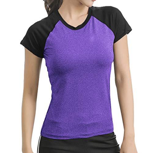 Aniywn Women's Short Sleeve Yoga Tops Activewear Running Workout T-Shirt Athletic Blouse Tunic Shirt ()