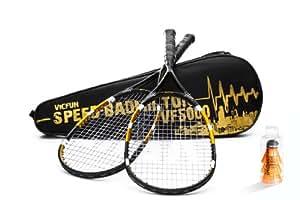 VICFUN 866/0/3 Set profesional para Speed Bádminton VF 5000, negro