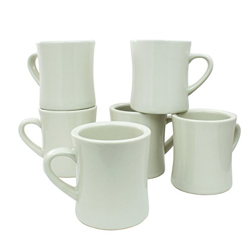 Coletti COL104 Vintage Restaurant Coffee Mugs | Coffee Mug Set of 6, 10 oz