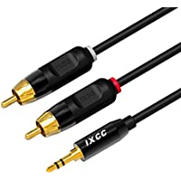 RCA Cable, iXCC 6ft Dual Shielded Gold-Plated 3.5mm Male...