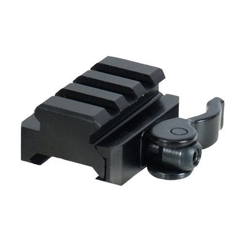 UTG 3-Slot QD Lever Mount Adaptor and Riser, Medium Profile