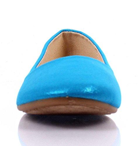 Mode Slip Op Alleen Voldaan Suède Schattige Smalle Bruiloft Dames Ballet Flats Schoenen Zonder Doos Blauw