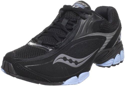 Saucony Women's Grid V2 Training Shoe,Black/Silver,7 M US