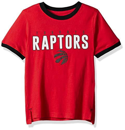 (Outerstuff NBA NBA Kids & Youth Boys Toronto Raptors Key Short Sleeve Fashion Tee, Red, Kids Medium(5-6))