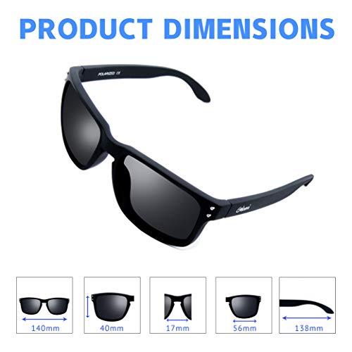 Anti sol wayfarer Remaches con de Reflejo Polarizadas Para UV400 Metálicos Gafas 100 Hombres Protección Mujeres y 51PwqHFE