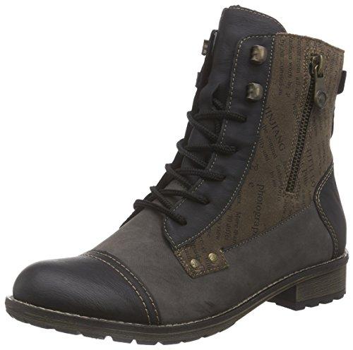 Remonte DorndorfR3352 - botas de combate Mujer Marrón - Braun (schwarz/bisam/trueffel / 25)