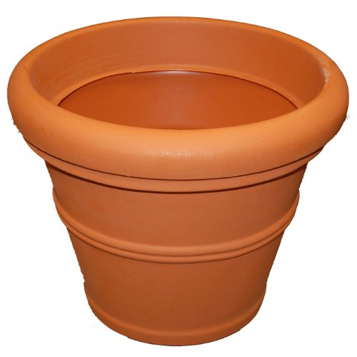 (Tusco Products T20 Rolled Rim Pot, Round, Terra Cotta, 20-Inch, Large Size )