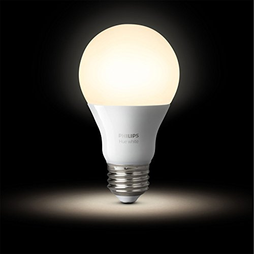 Philips Hue White A19 60W Equivalent Dimmable LED Smart Light Bulb Starter Kit (2 A19 60W White Bulbs and 1 Bridge, Works with Alexa, Apple HomeKit, and Google Assistant (Certified Refurbished) by Philips (Image #2)