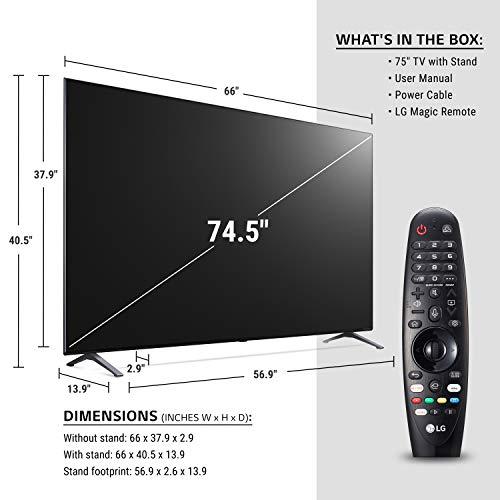 "LG 75NANO90UNA Alexa Built-In NanoCell 90 Series 75"" 4K Smart UHD NanoCell TV (2020)"