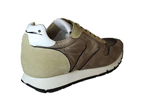 VOILE BLANCHE sneakers in camoscio e tessuto tecnico LIAM (45)