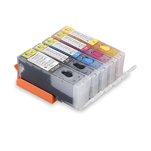 (Aomya Refilled Ink Cartridge Replacement for Canon PGI-250 CLI-251(PBK, BK, C, M, Y) 5 Pack)
