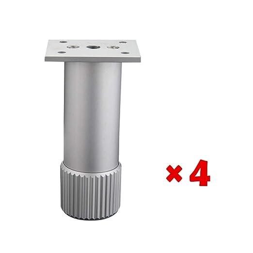 YDDHQ - Pies para muebles (4 unidades, metal, regulables ...